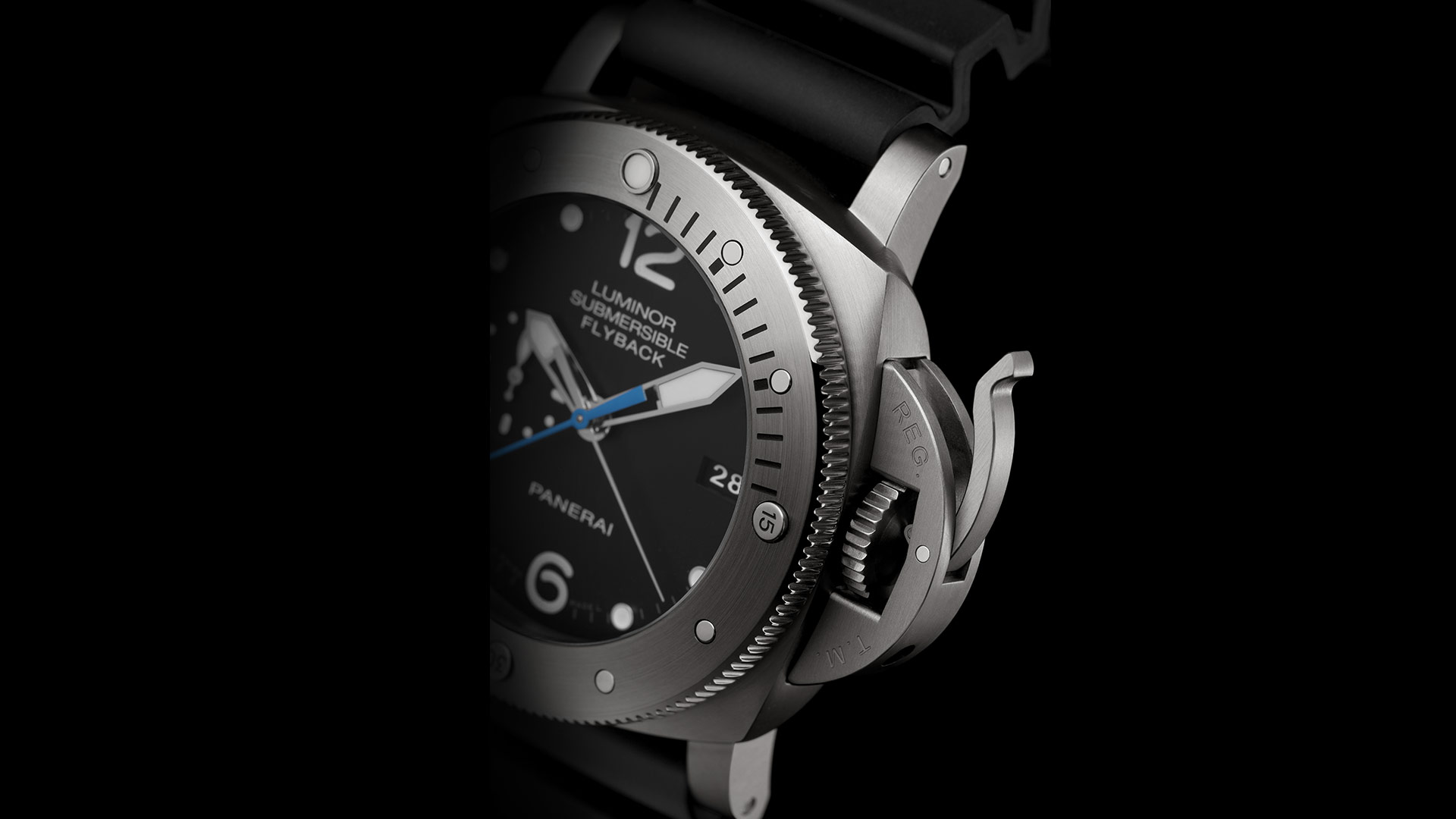 PANERAI LUMINOR SUBMERSIBLE 1950™ - 3 DAYS chrono flyback automatic titanio 47 mm - PAM00614