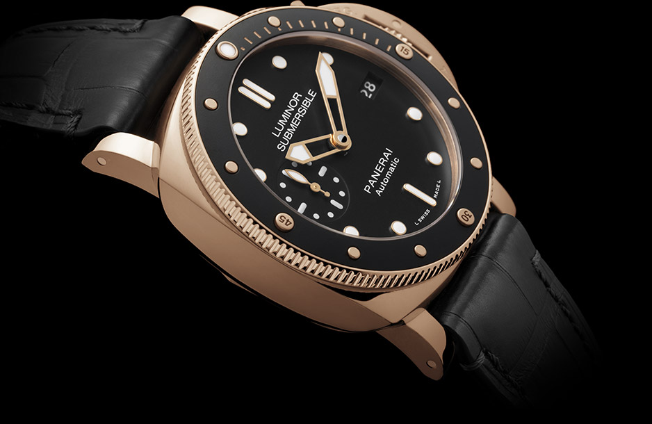 PANERAI LUMINOR SUBMERSIBLE 1950™ - 3 DAYS automatic oro rosso 42 mm - PAM00684